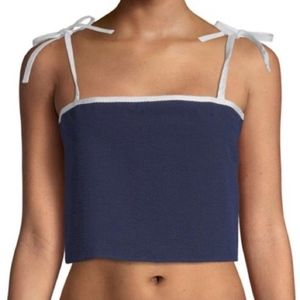 Solid and Striped The Bora Crop Top Small Navy